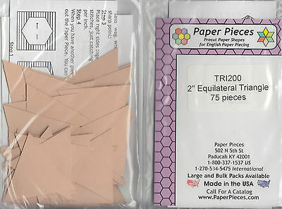 """2"""" Equilateral Triangles - EPP papers pack - 75 pieces"""