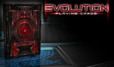 Evolution Bicycle Red Deck Of Playing Cards Uspcc Poker Size Magic Tricks Game