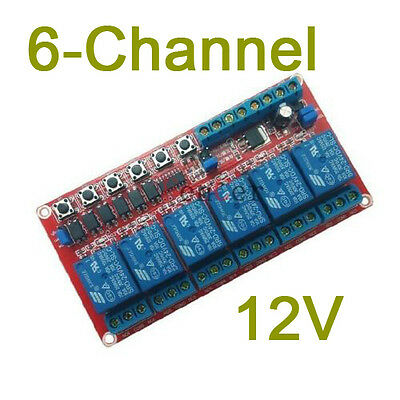 6-channel DC 12V latching relay module Switch controls high voltage H current