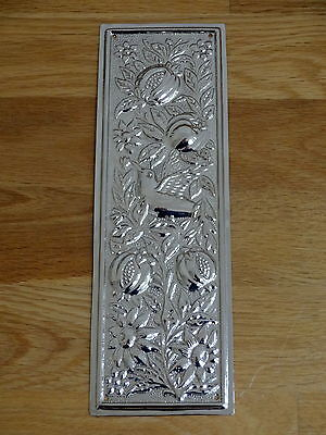 10 X Nickel Plated Arts & Crafts Finger Door Push Plate Fingerplate