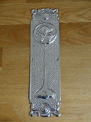 Set Of 10 Nickel Plated Art Nouveau Finger Door Push Plates Fingerplate