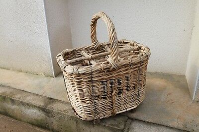 RARE CHAMPAGNE BOTTLES BASKET - EARLY 20 century - P160