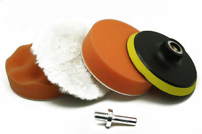 3'' Gross Polish Polishing Buffer Pad Sponge Kit Set Drill Adapter Car Polisher