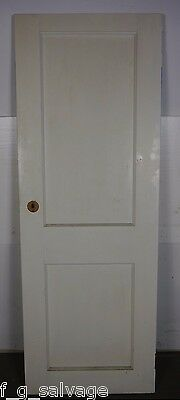 "Antique Vintage 2 Panel Interior Door 24"" X 66-1/2"" (A2) 1940's Local Pickup"