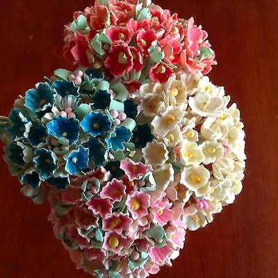 Vintage Millinery Flowers Forget Me Not for Doll Choose Pink Blue or Yellow