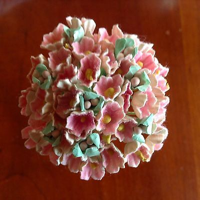 Vintage Millinery Flower Forget Me Not Pastel Pink Cluster for Hat + Hair PP1