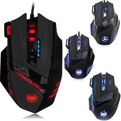 Professionnel 2400/4000/5500DPI Souris USB 7D LED Optique Wired/Sans fil Gamer