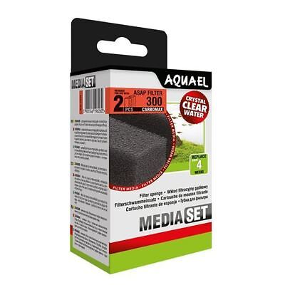 Aquael ASAP 300 Replacement Sponge with Carbomax x2 Aquarium Media