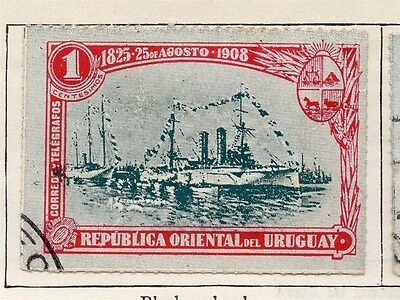 Uruguay 1908 Early Issue Fine Used 1c. 055422