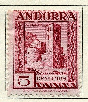 ANDORA;  1929 early local pictorial issue Mint hinged 5c. value