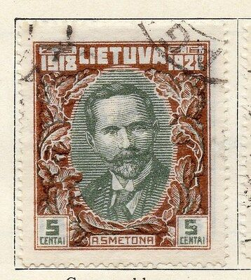 Lithuania 1928 Early Issue Fine Used 5c. 055511