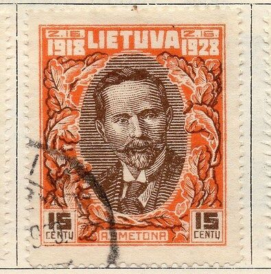 Lithuania 1928 Early Issue Fine Used 15c. 055513