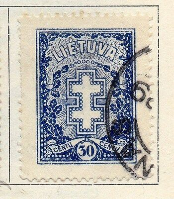 Lithuania 1926 Early Issue Fine Used 30c. 055507