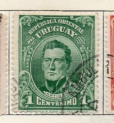 Uruguay 1910 Early Issue Fine Used 1c. 055433