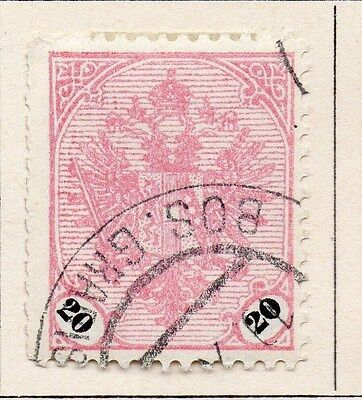 Bosnia Herzegovina 1901-06 Early Issue Fine Used 20h. 054940