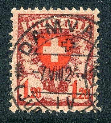 SWITZERLAND;  1924 early ' Shield ' issue fine used 1.20Fr. value