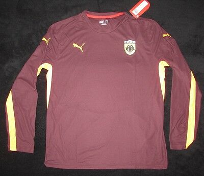 Original AEK Athen Training Player Issue Trikot Shirt Pre Match Puma L Langarm