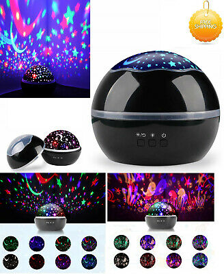 Autism Calming Lights Sensory Rotating Cosmo-Star Projector Night Lamp Sky Scene