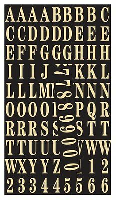 """Hy-Ko MM-2 Gold Self-Stick Numbers & Letters Pack, 1"""""""