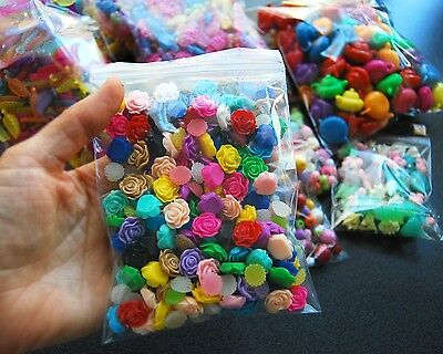Over 3500 Bulk Wholesale Jewellery Craft Supplies Beads Flower Cabochons Charms