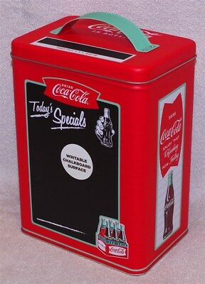 """Coca-Cola """"today's Specials"""" Large Rectangle Tin With Chalkboard Surface, New!"""