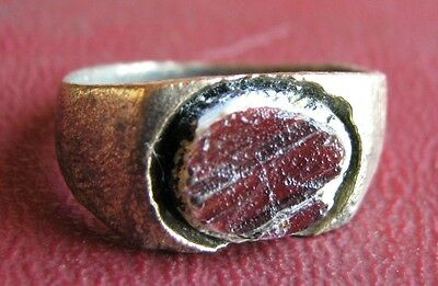 Ancient Artifact > 17th Century Bronze Finger Ring SZ: 4 US 14.75mm 14458 DR