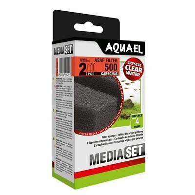 Aquael ASAP 500 Replacement Sponge with Carbomax x2 Aquarium Media *GENUINE*