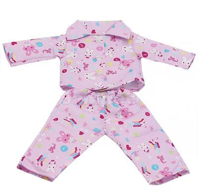 """Handmade Pajamas PJS Clothes for 18"""" AG American Girl Our Generation Doll"""