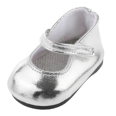 """Doll Silver Shoes for 18"""" American Girl Our Generation Doll Party Accessory"""