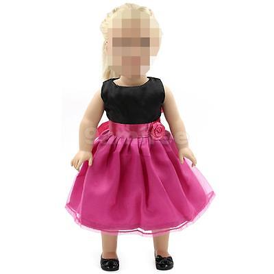 """Fuchsia Party Dress Clothes Outfit For 18""""American Girl Our Generation Dolls"""