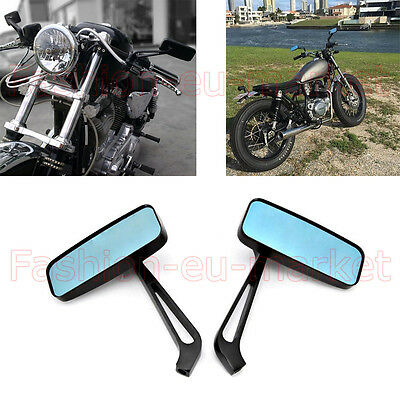 Motorcycle Motorbike Scooter Wing Mirrors Aluminum Rotated Universal 8mm 10mm