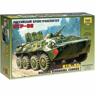ZVEZDA 3558 BTR-80 Russian Armoured Personal Carrier 1:35 Military Model Kit