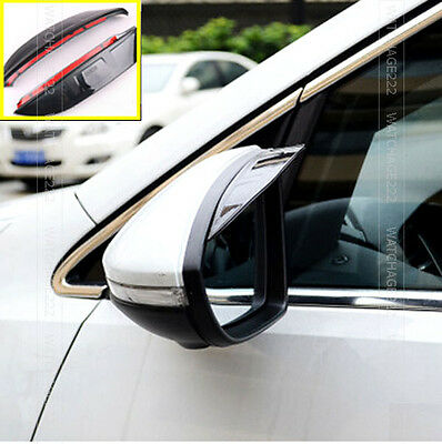 Fit For Vw Polo 9N 2002-2008 Side Door Wing Mirror Rain Guard Visor Shield Cover