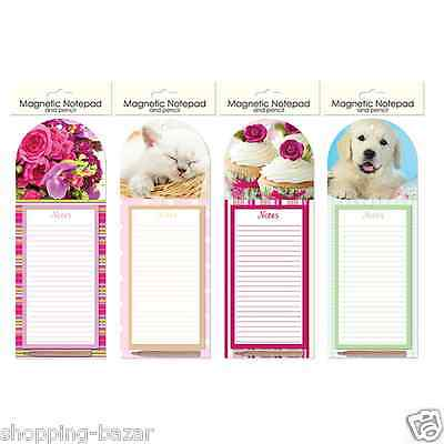Magnetic Notepad Memo Note Pad with Pencil Shopping List Fridge Magnet Kitchen
