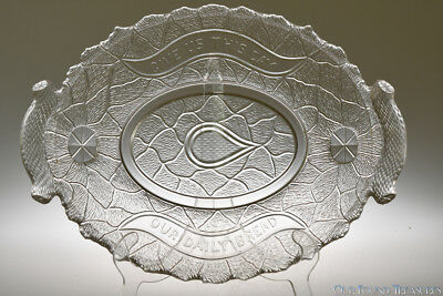 c. 1880 RUSTIC / GARDEN OF EDEN / LOTUS w/SERPENT Campbell, Jones CRYSTAL Plate