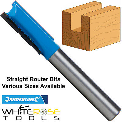 """Silverline Individual 1/4"""" TCT Straight Metric Cutter Router Bit Kitchen"""