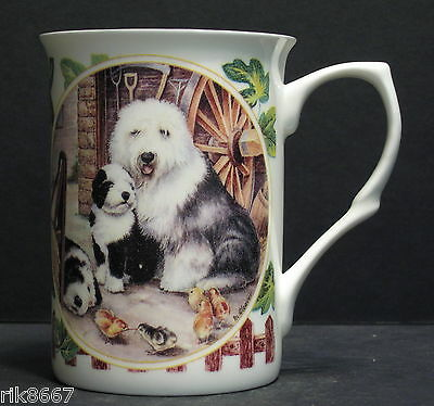 Old English Sheep Dog By Mellor Fine Bone China Mug Cup Beaker