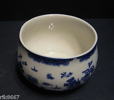 Open Sugar Willow Pattern By Heron Cross Pottery England
