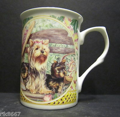 Yorkshire Terrier Dog By Mellor Fine Bone China Mug Cup Beaker