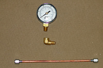 Universal Oil Burner Pressure Test Gauge with 90° ELBOW and MINI-LINE