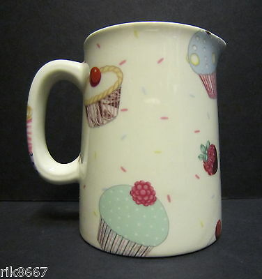 Heron Cross Pottery Cup Cakes Chintz English 1/4 Pint Cream Jug