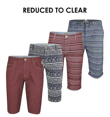 Mens Chino Shorts Button Fly Cotton Summer Beach Casual Pants Multi-Color 28-38