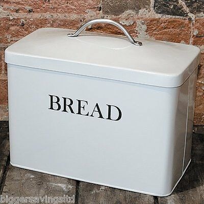 Garden Trading Bread Bin Metal Kitchen Vintage Storage Chalk