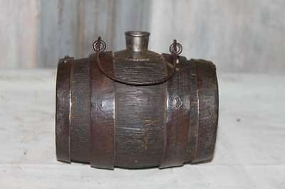 RARE LITTLE WINE BURGUNDY KEG - Oak and iron - end 19th - P325