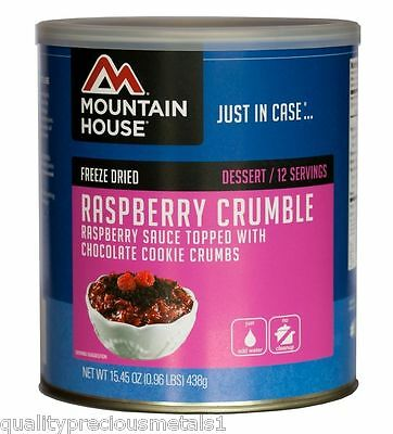 1 Can - Raspberry Crumble - Mountain House Freeze Dried Emergency Food Supply