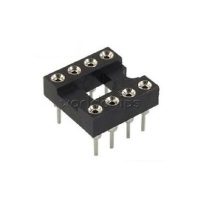 20PCS 8Pin Round IC DIP SIP Sockets Adaptor Solder Type plated machined