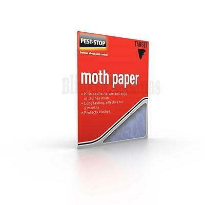 10 Moth Killer Paper Clothes Deterrent Repellent Wardrobe Drawer Hanger Egg 04C
