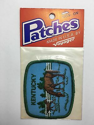 Kentucky Horse Voyager Souvenir Patch Iron On Patch Vintage Foal Blue/Green