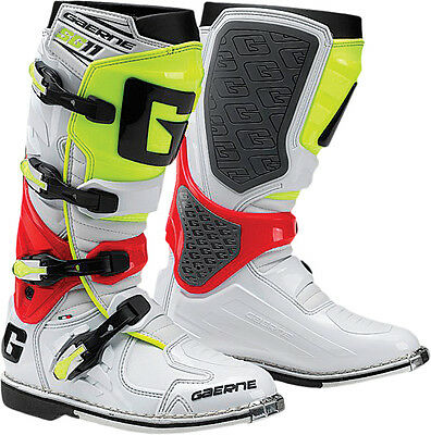 Gaerne Sg-11 Boots White/red/yellow Sz 6