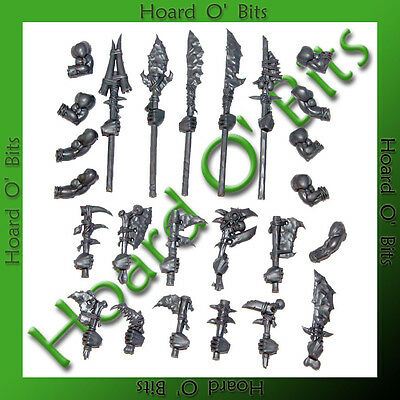 WARHAMMER BIN BITS SAVAGE ORC BOAR BOYZ - ARMS SPEARS and WEAPONS